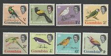 Gambia 1963 Birds definitives SG193-200 MLH mounted mint short set to 1s stamps