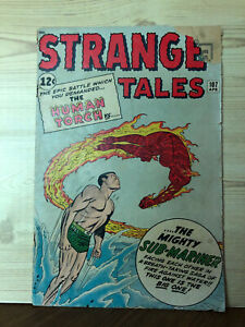 Strange Tales #107 (Apr 1963, Marvel) Poor condition Bagged & Boarded