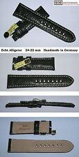 - BOB ECHTES ALLIGATOR LEDERBAND 24/22mm für PAN- Breitdornschließe ähnliche Uhr