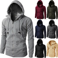 Men's Thick Hoodie Jacket Sweater Zip Up Hooded Winter Sweatshirt Coat Tops Warm