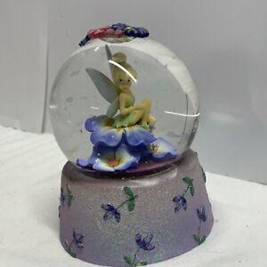 Disney Tinkerbell Snowglobe Vintage 2000s Snow Globe Rare Great Condition
