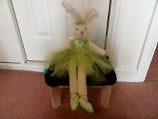 "Ballerina Bunny with Green Dress Soft Decorative Toy approx 23"" Tall New"