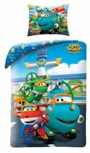 Set Bed Super Wings Mission Team Submarine Willy Duvet Cover 140x200 Cotton