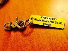 Fire Company Accountability Tags W/ Rings/Clips -Customized