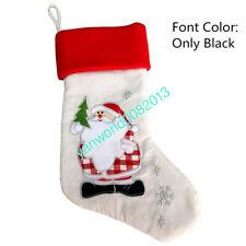 Present Xmas Socks Stocking Any Name Personalised Christmas Santa Sack Toys Gift
