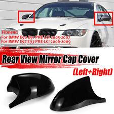 Side Mirror Cover Caps Replaces M3 Style For BMW E90 E91 E92 E93 Pre-LCI 2005-07