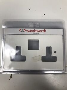 Wandsworth White 2G Double Socket Front Plate ** FREE P&P **