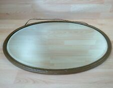 "Large Bronze Metal Mirror Heavy 6.5KG 60CM 24"" x 44CM 17"""