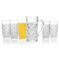 RCR COMBO-4286 Enigma Luxion Crystal Seven-Piece Hi-Ball Tumbler and Serving Jug