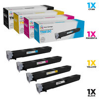 LD Compatible Konica Minolta TN613 Set of 4 Toners: Black, Cyan, Magenta, Yellow