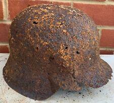 Original WW2 Normandy Relic German Army Helmet - #16