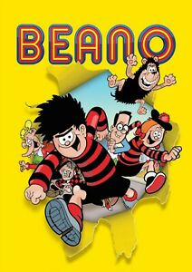 """Reproduction """"Beano - Comic"""" Poster, Home Wall Art, Various Sizes Available"""