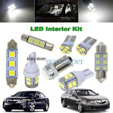 14x White LED lights interior package Kit Map Dome Bulb fit 2009-2014 Acura TSX