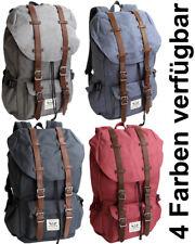 Großer Rucksack mit gepolstertem Laptopfach Schule Uni Freizeit Wandern Daypack
