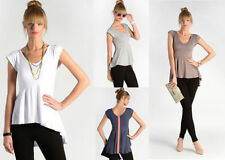 Markenlose Kurzarm Damenblusen, - tops & -shirts mit U-Ausschnitt