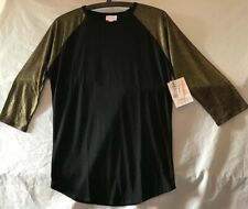 Lularoe Randy Top. Black With Gold Sparkle Long Sleeves. Size Small. NWT