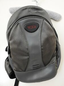 Tumi Cross Back Backpack Grey and Black - Preloved Good Condition.