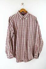 Tommy Hilfiger Herren Hemd Gr. XL Langarm Rot / Weiß Karo Shirt