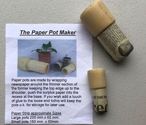 Paper Pot Maker, Make Pots From Newspaper