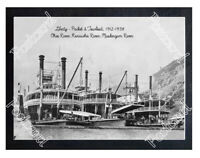 Historic Liberty Packet-Towboat, 1912 Ohio River Steamboat Postcard