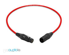 Canare Quad Cable L-4E6S | Neutrik Gold Xlr-F Xlr-M | Red 2 Feet | 2 Ft. | 2'