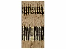 Pack of 12 DMC Six Strand Embroidery Cotton 8.7 Yards Light Mocha Brown 117-3782