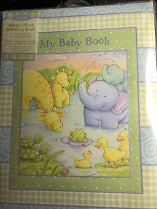 Baby Memory Book - Newborn Journal - Baby First Year Book - Baby Shower NEW