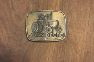 John Deere belt buckle vintage