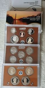 "2014 S Proof Set Original Box & COA 14 Coins US Mint ""Beautiful"" Condition"
