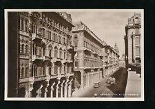 Italy GENOVA Genoa Via XX Settembre Trams c1910/20s? RP PPC