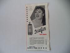 advertising Pubblicità 1956 SCIUFAN BORSARI PARMA e RITA GAM