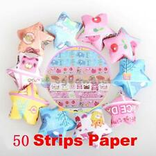 50 Strips Mix-Colors Folding Kit Lucky Wish Star Origami Ribbon Paper Craft