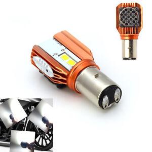 12V 20W Led Motorcycle BA20D Bulb Headlight Lamp White Spot Fog Light High / Low