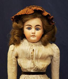 "16"" Antique German Bisque Solid Dome Shoulder Head Doll"