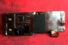 """Genuine Quality Leather Messenger Attaché Case 11"""" X 14"""" Tall Many Compartments"""