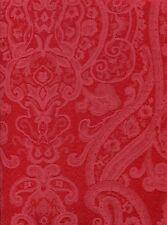 Ralph Lauren Paisley Damask Tablecloth 70 Round Dressage Red