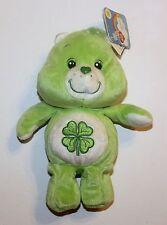 Care Bears Good Luck Bear Green Bean Bag Plush Teddy Stuffed Animal Shamrock