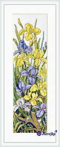 """Merejka counted Cross Stitch kit """"Frogs in the Flowers"""" DIY"""