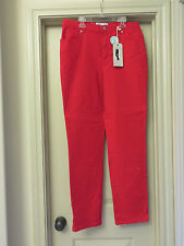 Charter Club Red Jeans S 10 Tummy Slimming Classic Fit Narrow Leg Retail $54