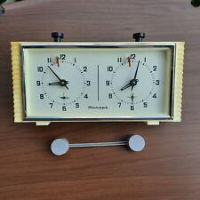 Chess Mechanical Clock Timer Yantar Jantar Vintage Soviet Russian USSR