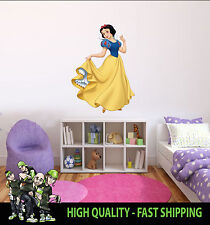 PRINTED WALL ART SNOW WHITE GRAPHIC STICKER KIDS BED ROOM