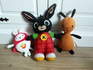 Fisher Price Mattel Talking BING BUNNY & FLOP + HOPPITY VOOSH Soft Toy Bundle VG