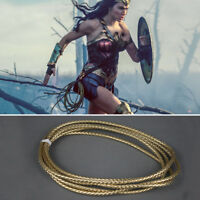 Superhero Wonder Woman Diana Prince Cosplay Weapon Mantra Lasso 3 Meters Gold