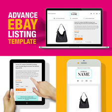 Advanced eBay Design Listing Template HTML Mobile Friendly 2018 Compliant HTTPS