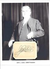 John L Lewis Autograph Union Labor Leader President Mine worker The Labor Baron