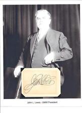 John L Lewis Autograph Union Labor Leader President Mine worker The Labor Baron