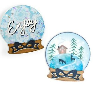 Sizzix Thinlits 6 Die Set CHRISTMAS ORNAMENT FLIP AND FOLD #663153 Discontinued