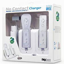 Bigben Induktion Lade-Station + 2x Akku für Wii Remote Controller Ladegerät Dock