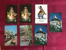 Disneyland Postcard Matterhorn Submarine Ride Monorail Country Bear Jamboree