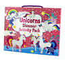 Kids Unicorn Activity Shimmer Pack Colouring Drawing Crayon Book Stickers Artist